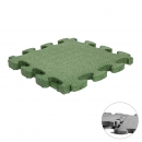 Fall Protection Puzzle Mat 3D green | 55 x 55 x 4.5 cm