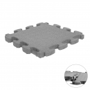 Fall Protection Puzzle Mat 3D gray | 55 x 55 x 4.5 cm
