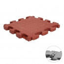 Fall Protection Puzzle Mat 3D red | 55 x 55 x 4.5 cm
