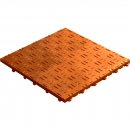Click tile ribbet terracotta 6er set