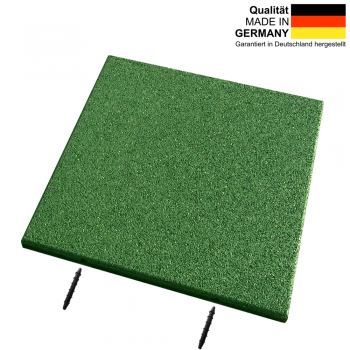 Rubber slabs CG30 | 500 x 500 x 30 mm | grass green