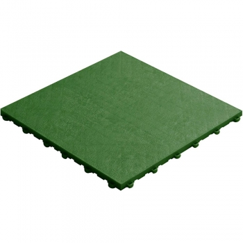 Click tile leather look green