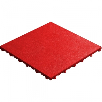 Click tile leather look red