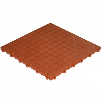 Click tile nubs look terracotta