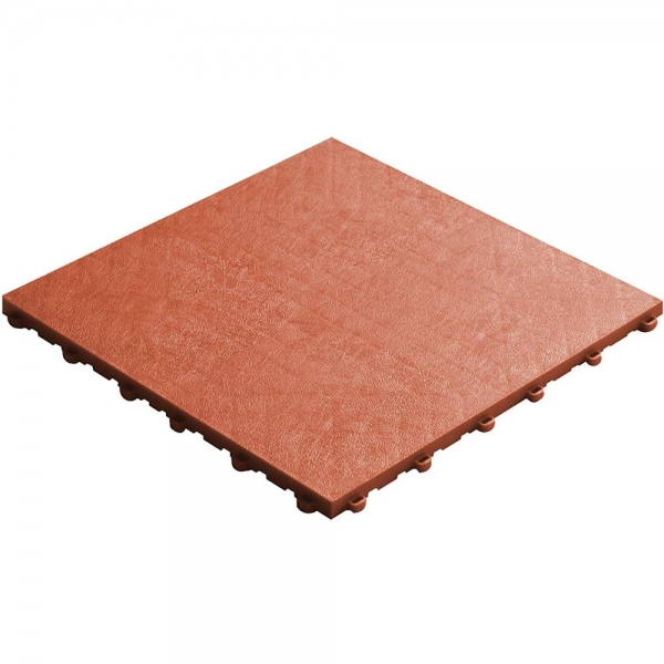 Click tile leather look terracotta