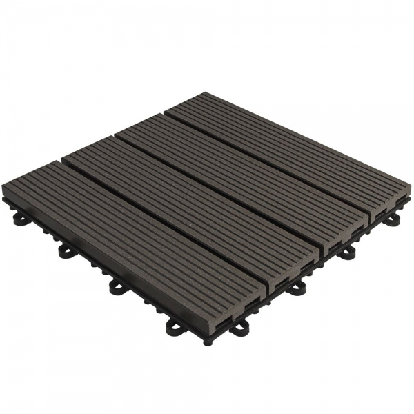 WPC click tiles anthracite